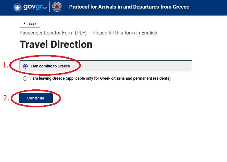 Popunjavanje PLF obrazca za Grčku